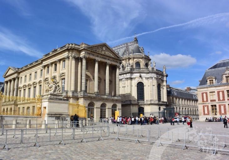 entrada do Castelo de Versailles